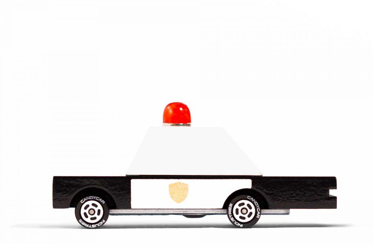 Police car candylab side