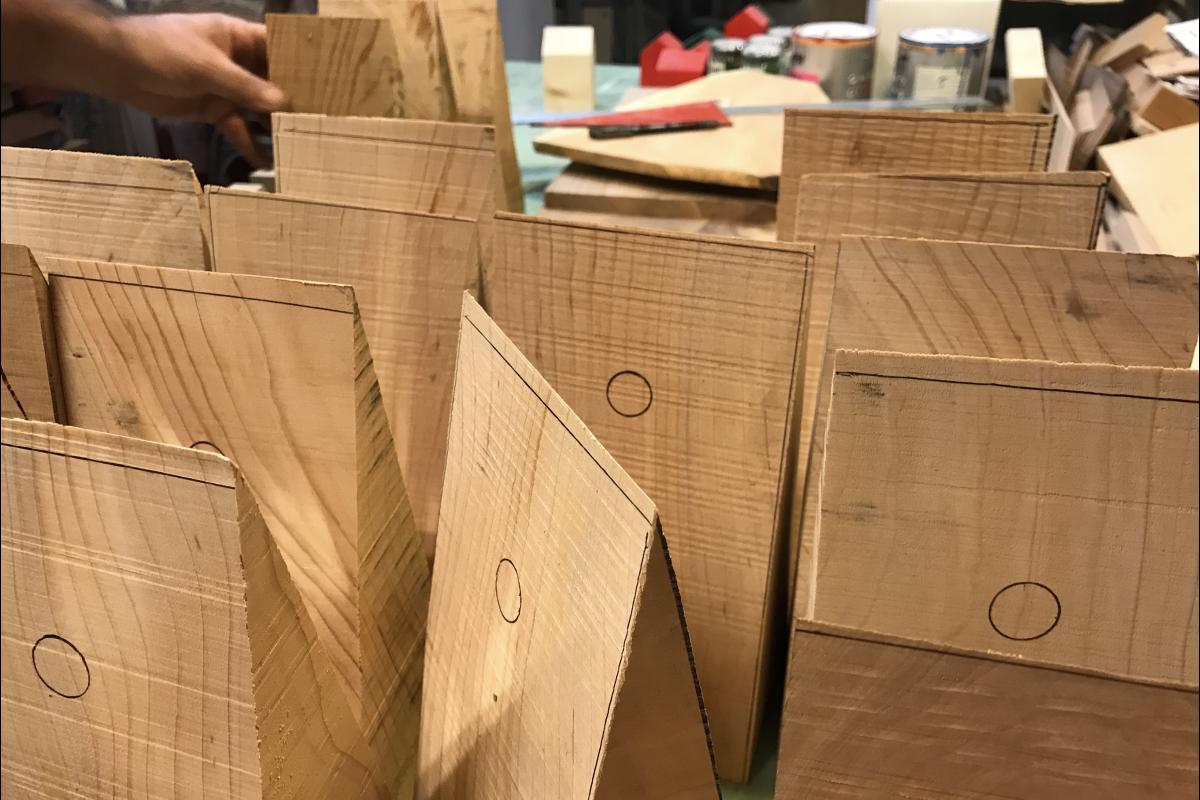 Vud-progetto cugno- making